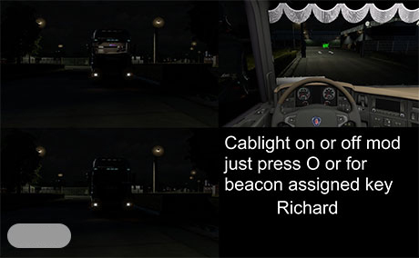 скачать мод на свет в кабине для Euro Truck Simulator 2 - фото 5